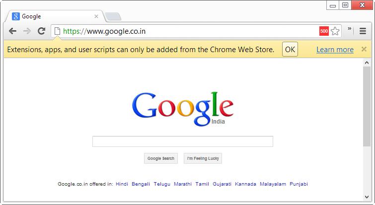 Comment installer une extension en dehors du Chrome Web