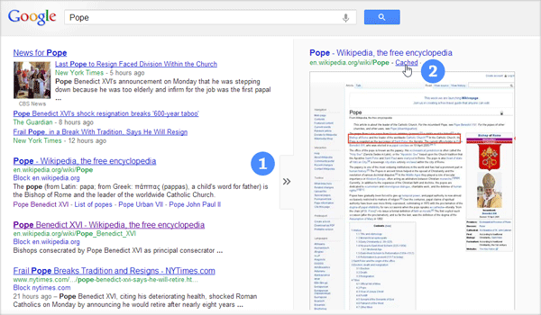 google-cached-pages