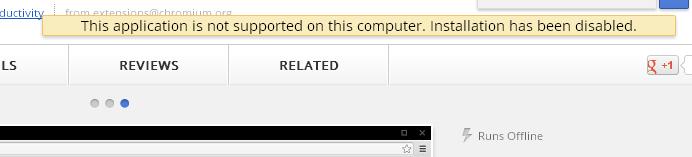 Sur ma version stable de Chrome, l'extension ne peut pas être installée !