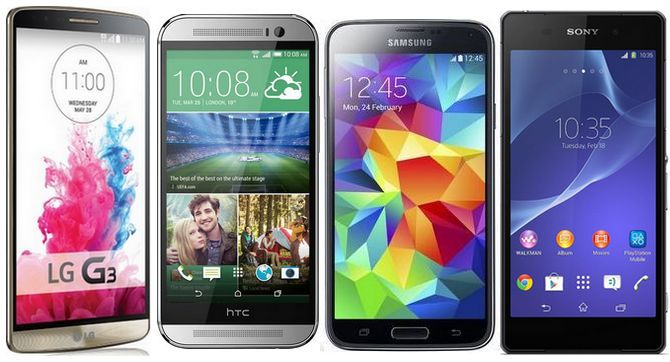 lg-G3-htc-one-m8-galaxy-S5-sony-xperia-z2-comparatif