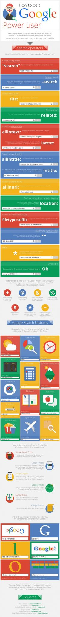 Infographie Google power user