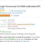 Chromecast à 29,90 € pendant quelques heures