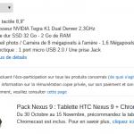 Le chromecast offert pour la pré commande de la Nexus 9