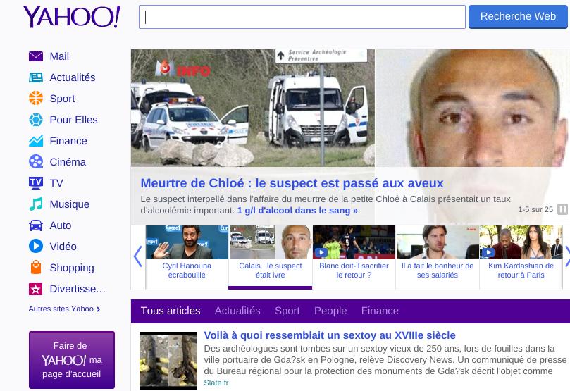 Yahoo, ton menu ne me plait pas !