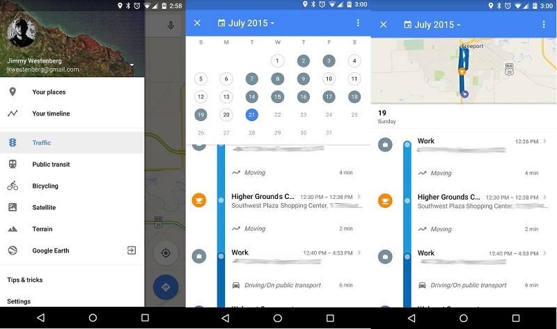 Timeline-Google-Maps