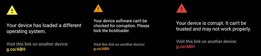 avertissement android