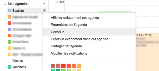 google-agenda-corbeille